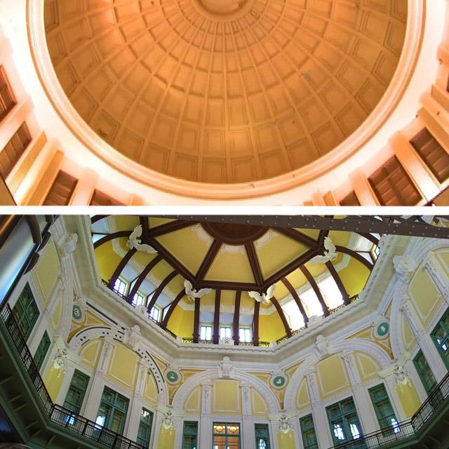昭和のドームと復元ドーム