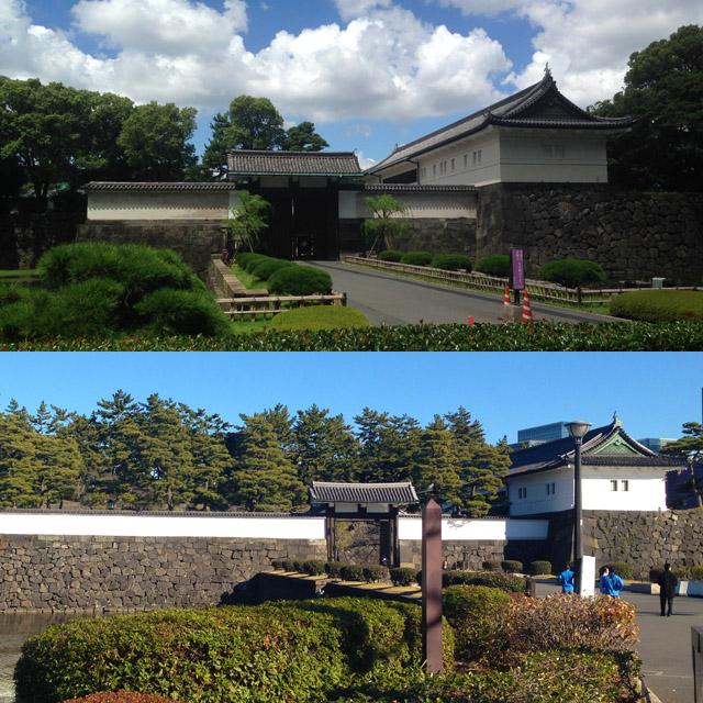 高麗門が正面を向く大手門と桜田門