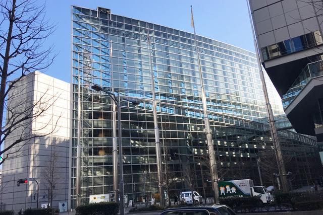 土佐藩上屋敷跡に建つ東京国際フォーラム。