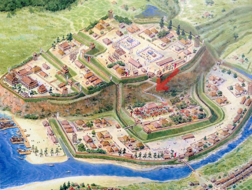 太田道灌の江戸城想像図に見る梅林坂。