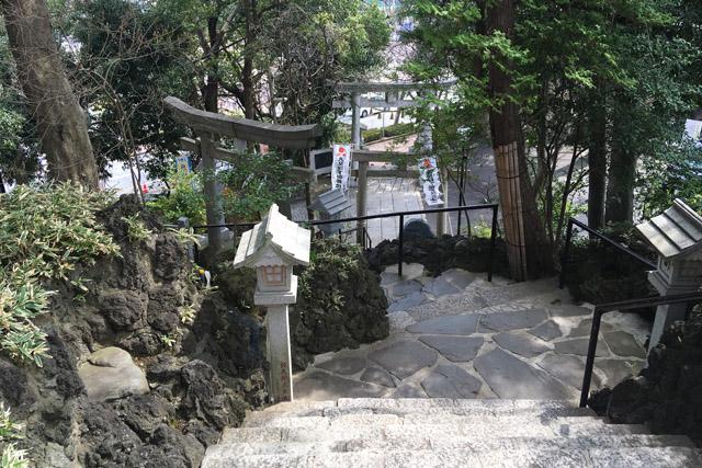 多摩川神社石段