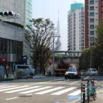 東京タワーが見えるけやき坂