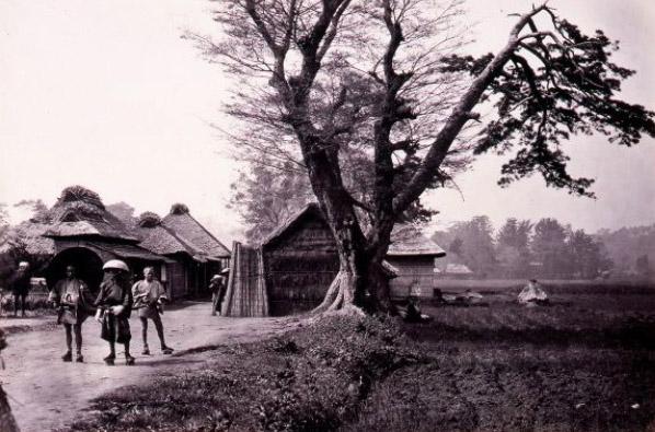 古写真:生麦事件の現場