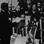 青山霊園でのハチ公の葬儀