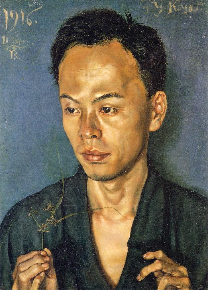 「古屋君の肖像(草持てる男の肖像)」