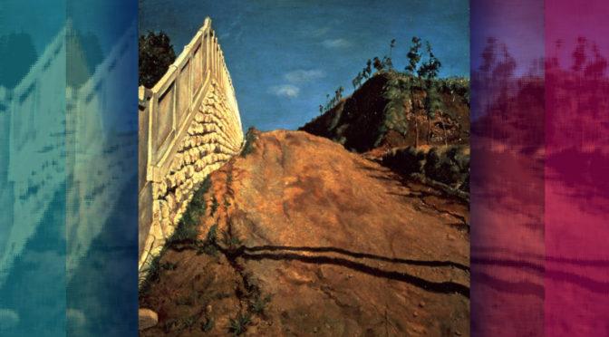 「道路と土手と塀(切通之写生)」