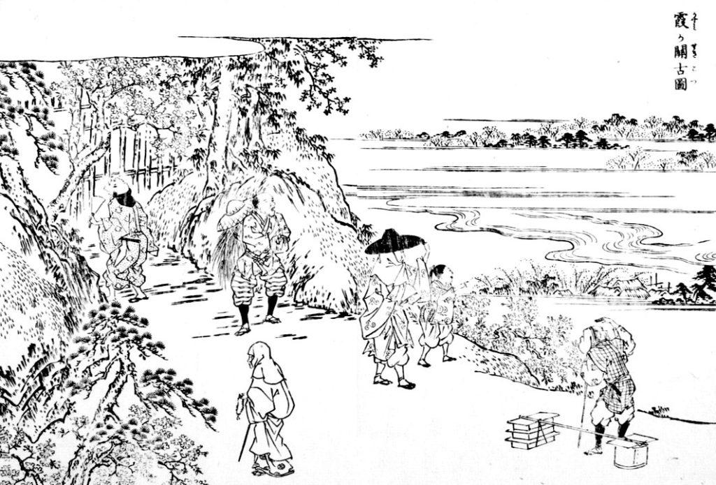 江戸名所図会より霞ヶ関古図