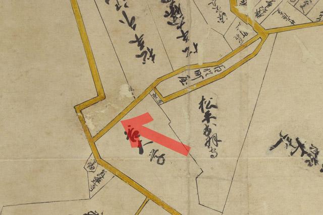 古地図:元禄年間(1688-1703年)江戸大絵図より幽霊坂