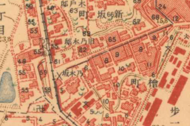 古地図:大正5-10年(1917-21年)陸地測量部2万5千分の1地形図より