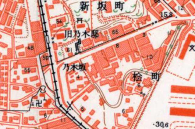 古地図:昭和30-35年(1955-60年)1万分の1地形図より