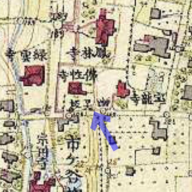明治9-17年(1876-84年)5千分の1東京図測量原図より幽霊坂
