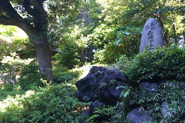松濤園、西郷勝会見の地