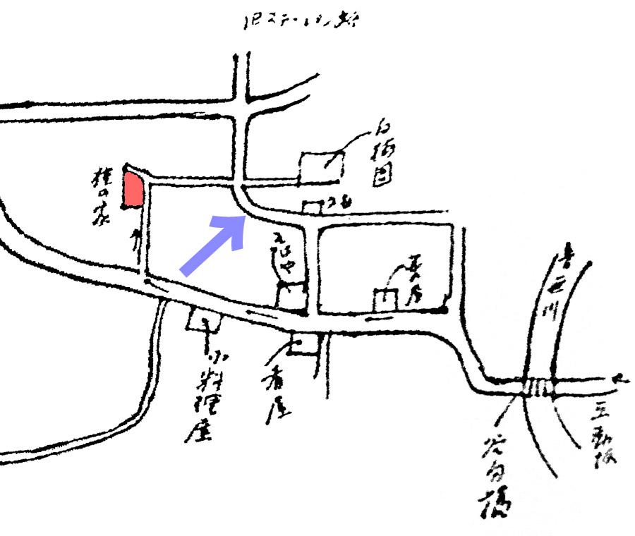 芥川龍之介自筆の家までの地図