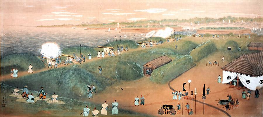 鍋島直正品川台場巡視之図