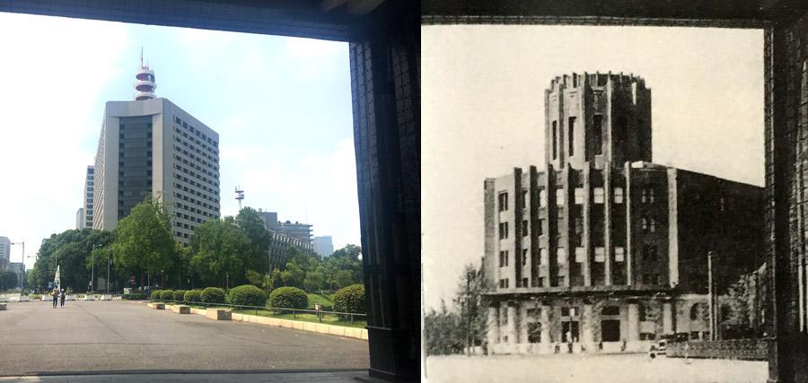 桜田門から見る新旧警視庁。