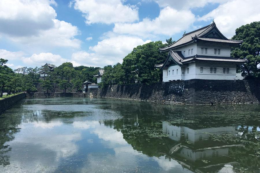 辰巳櫓桔梗門富士見櫓のスリーショット