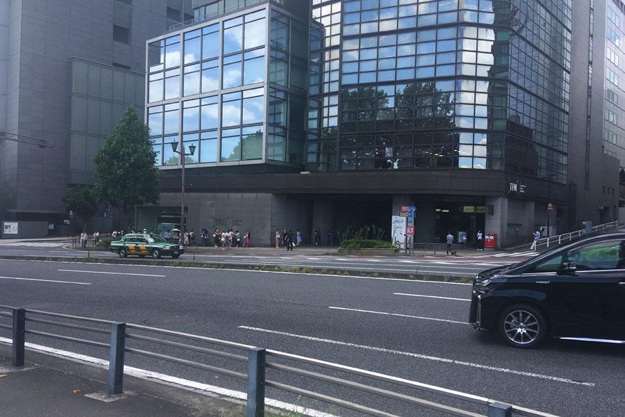 FM東京前。