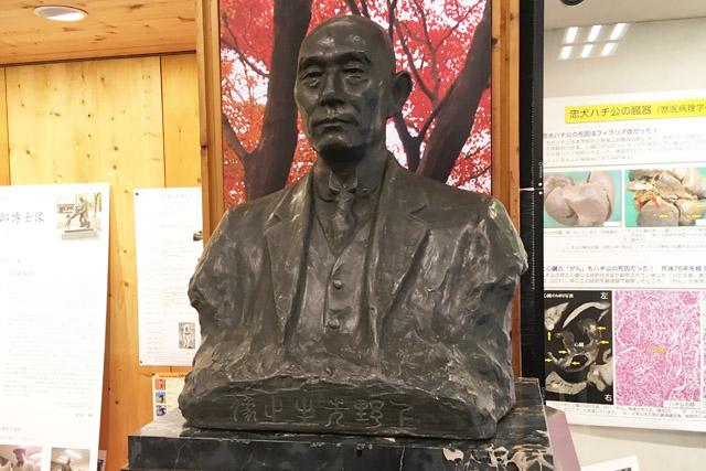 上野栄三郎胸像