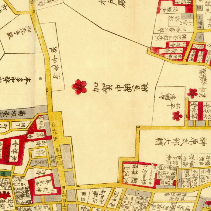 万延二年(1861年)尾張屋版本郷湯島絵図より
