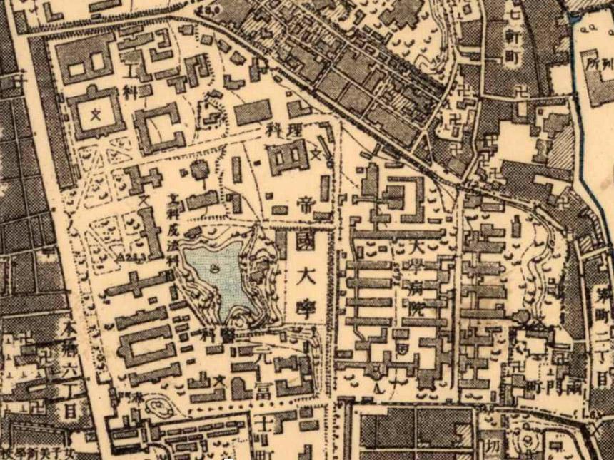 古地図:明治39-42年(1906-09年)2万分の1測図より