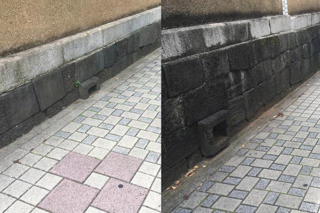 長屋の排水口