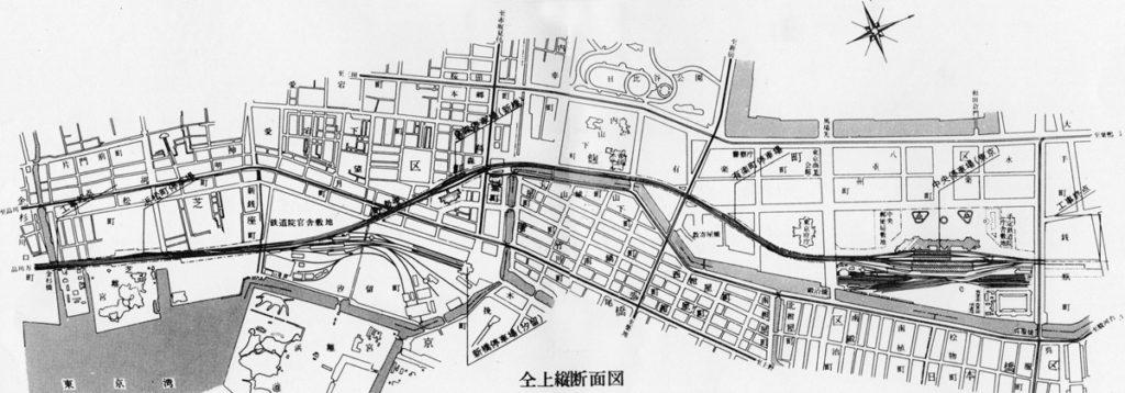 新永間市街線高架橋全線図