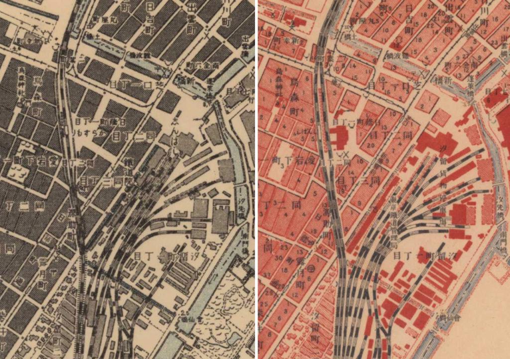 古地図:烏森駅から新橋駅へ
