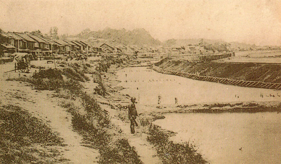 明治五年九月(1872年10月)の芝浜