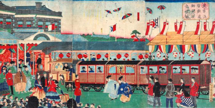 横浜から帰った1号列車