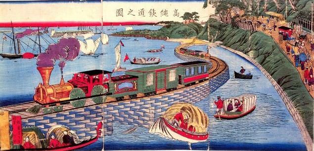 高輪鉄道之図。
