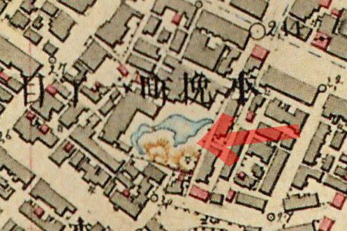 古地図:明治9-17年(1876-84年)5千分の1東京図測量原図より料亭