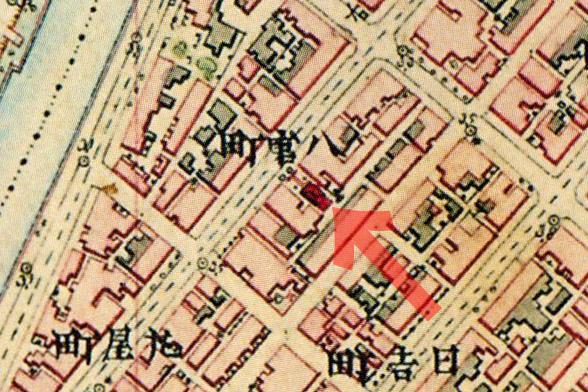 古地図:明治9-17年(1876-84年)5千分の1東京図測量原図より穀豊稲荷神社