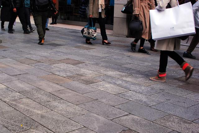 銀座の歩道
