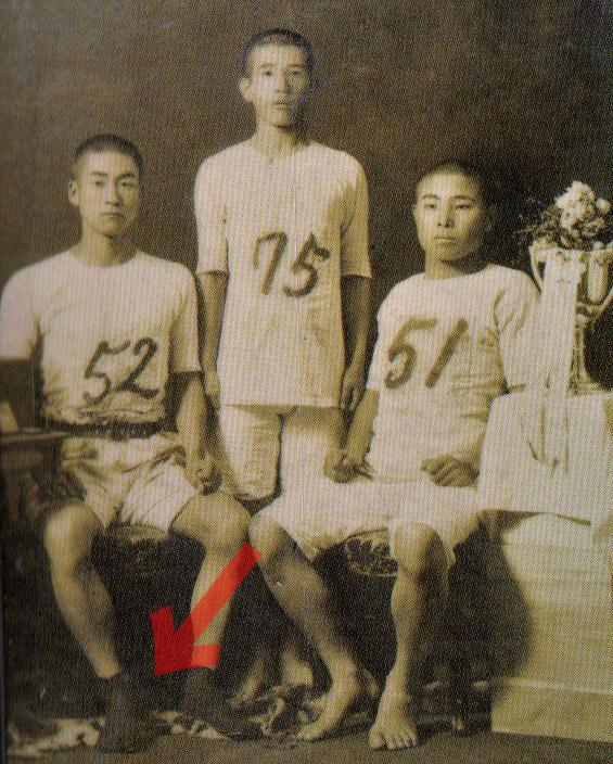 オリンピック予選会後、野口源三郎の足袋