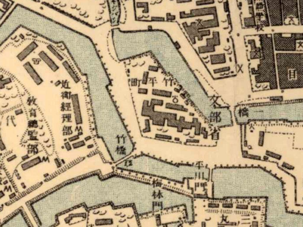 古地図:明治39-42年(1906-09年)2万分の1測図より文部省