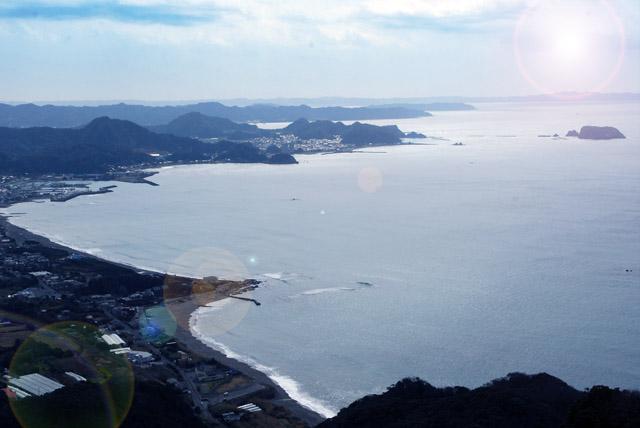 館山の海岸線