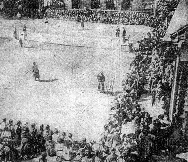 大正十年(1921年)十一月一日付時事新報より庭球大会
